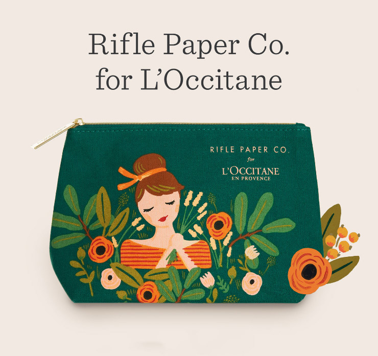 Rifle Paper Co: collaboration avec l'Occitane ! <3