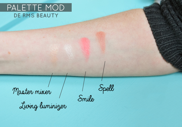 Swatch de la palette RMS Beauty Mod Signature sur le blog Birds & Bicycles