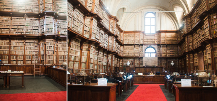 Idée de choses insolite à voir à Rome: la bibliothèque Angelica