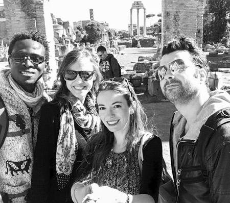 Mes amis et moi à Rome!