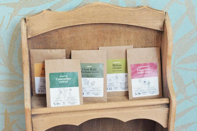 Dans la box de l'Echoppe végétale: des graines bio pour jardiner