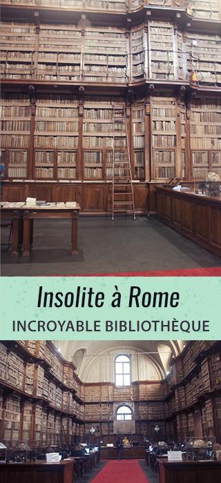 Insolite à Rome: une magnifique bibliothèque!