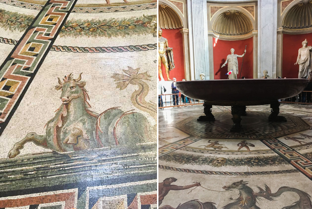 Visiter le Vatican et ses incroyables musées: fresques, mosaïques, c'est un endroit à ne pas rater si vous visitez Rome. Vous verrez aussi la chapelle Sixtine!