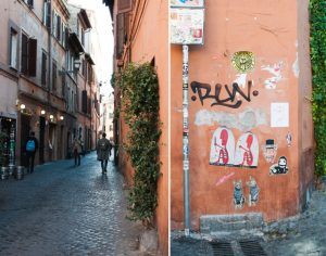 Street art italien à Rome : le quartier du Trastevere