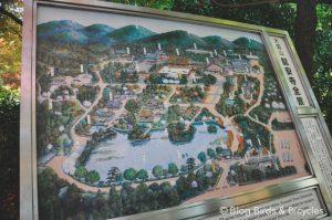 Plan du jardin du Ryoan-Ji - visiter Kyoto