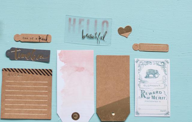 Embellissements Heidi Swapp pour scrapbooking et project life