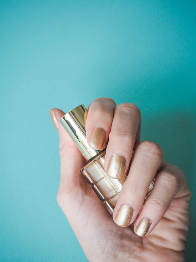 Swatch des vernis à l'huile de l'Oréal: L'Or