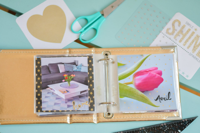 Scrap: mes petits albums Project Life sur le blog Birds & Bicycles