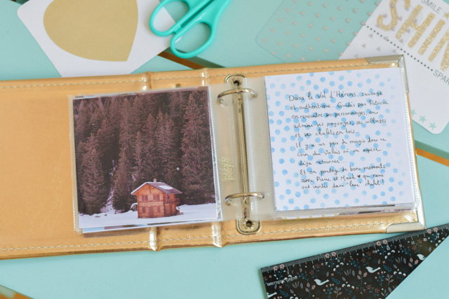 Je vous montre mon album carré Project Life sur le blog . Birds & Bicycles