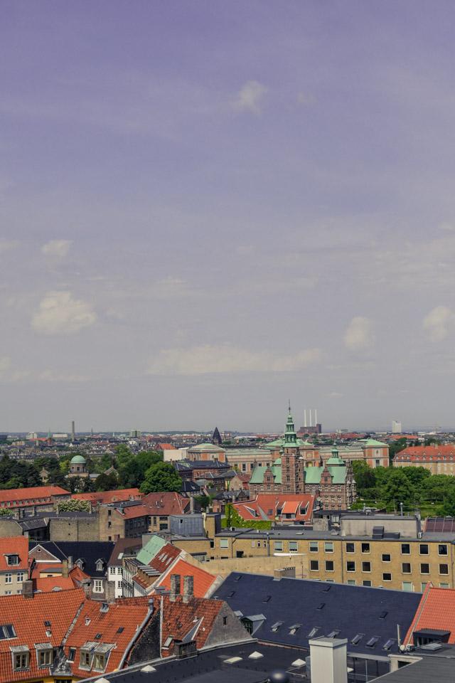 La vue du haut de la Rundetarn, la tour ronde à Copenhague