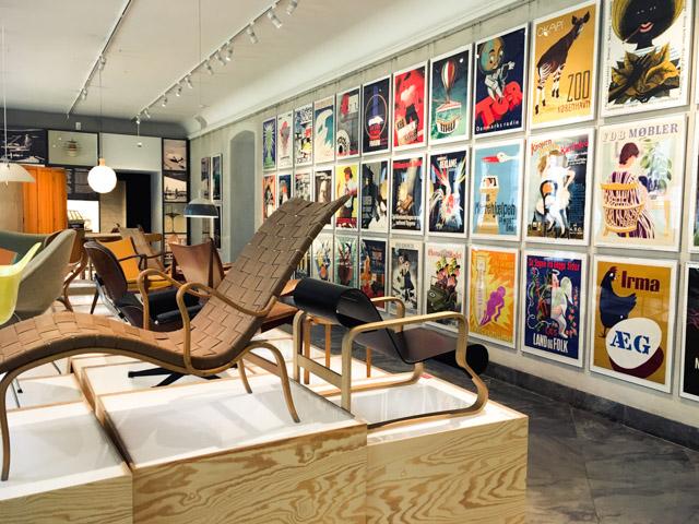 Une salle du Musée du design danois à Copenhague