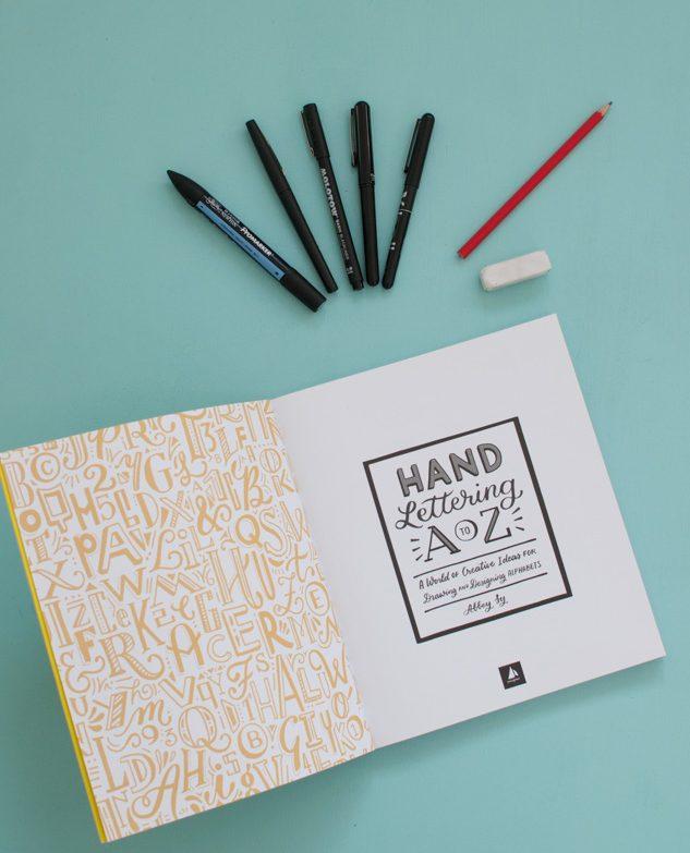 Hand Lettering A to Z: mes livres favoris de lettering