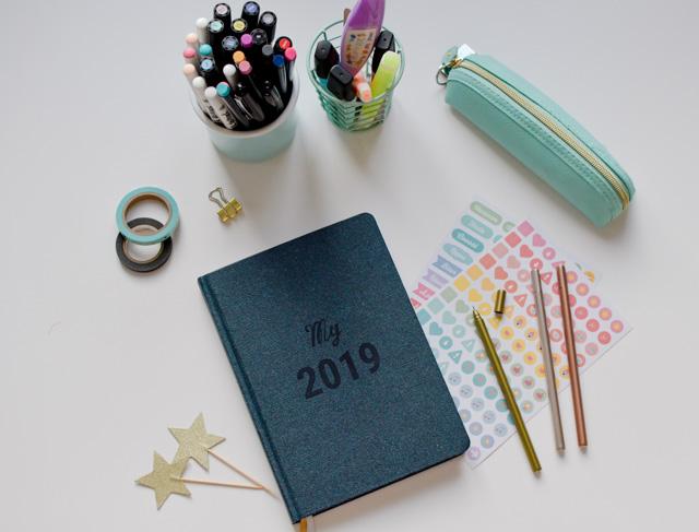 Mon agenda 2019 préféré pour bien m'organiser: le semainier My Agenda, made in France sur du papier recyclé