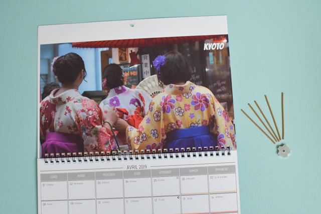 Le Japon dans mon calendrier spécial voyage