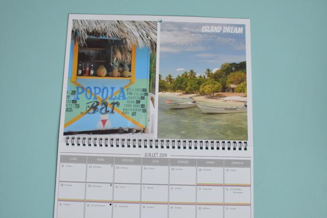 Mon calendrier de voyages imprimé en ligne