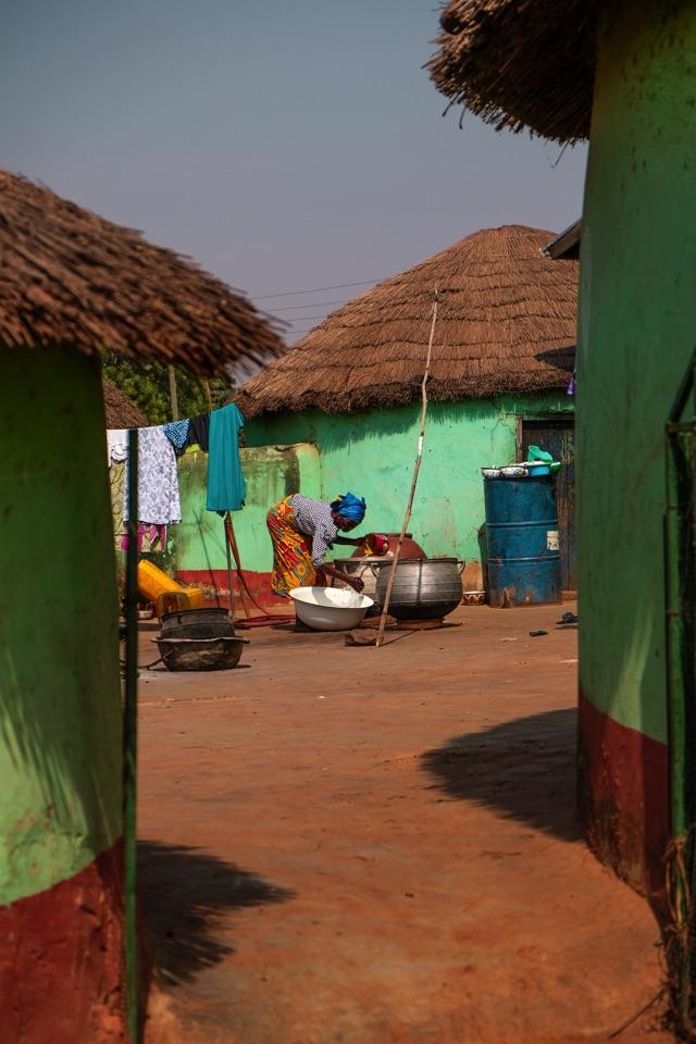 Un village au nord du Ghana autour de Tamale