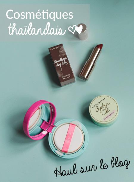 Cosmétiques asiatiques: que ramener de Thaïlande? Mon haul pour vous donner des idées! #makeup #asie #cosmetiquesasiatiques