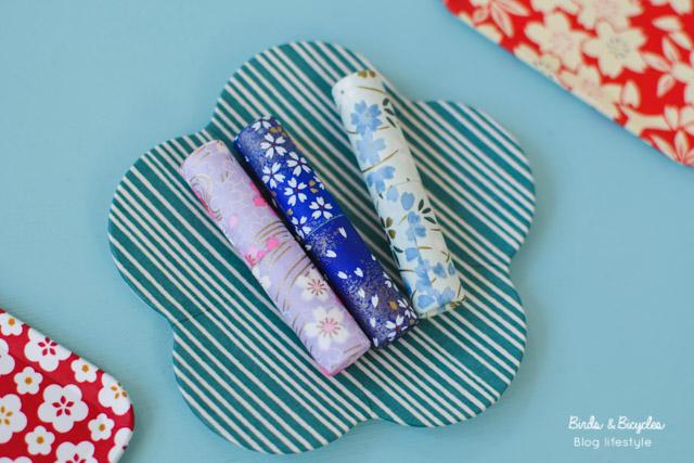 Des objets en papier washi - typiquement japonais