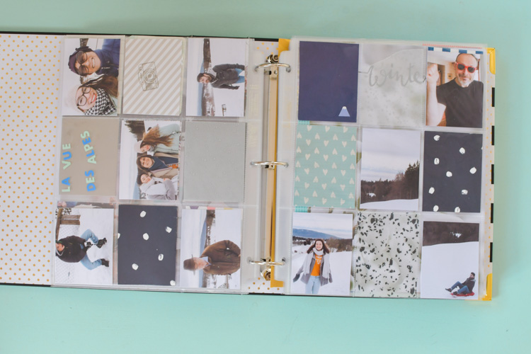 Double-page Project Life scrapbooking hiver