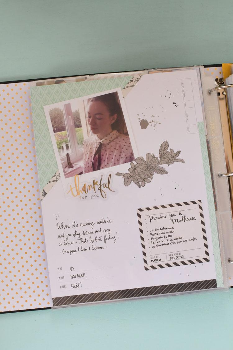 Scrapbooking dans mon StoryLine de Heidi Swapp