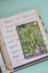 Scrapbooking - page jardinage