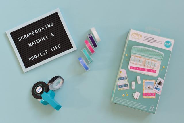 Scrapbooking: un punch board et une étiqueteuse pour ajouter des mots à son project life