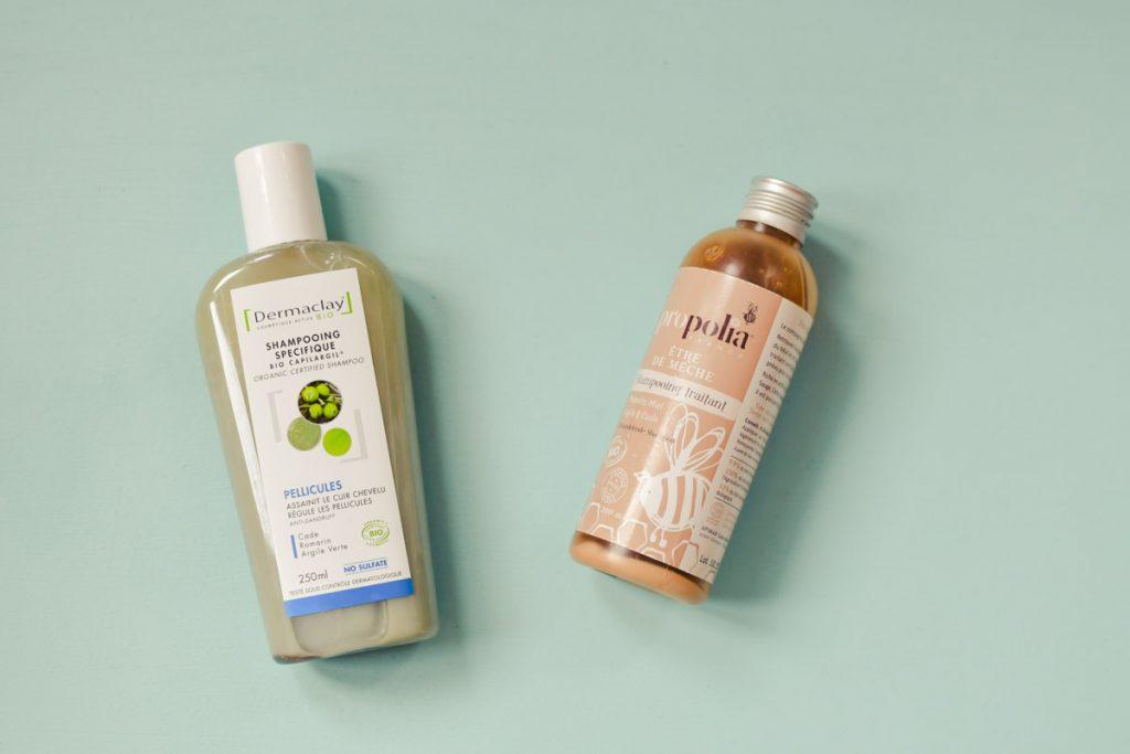Shampoings naturels sans silicones anti-pelliculaires