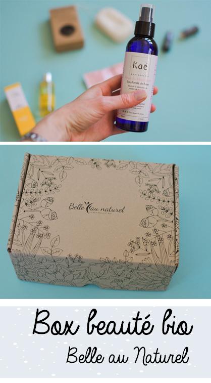 Une box beauté de cosmétiques naturels: avis et déballage sur le blog