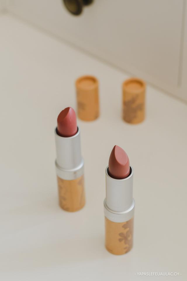 Swatchs rouges à lèvres Couleur Caramel 278 et 279