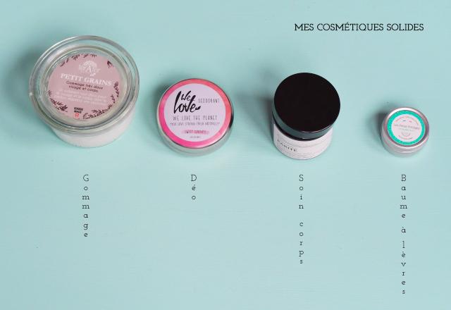 J'adopte des cosmétiques solides. Et je vous recommande ces 4 là pour une salle de bain plus écolo