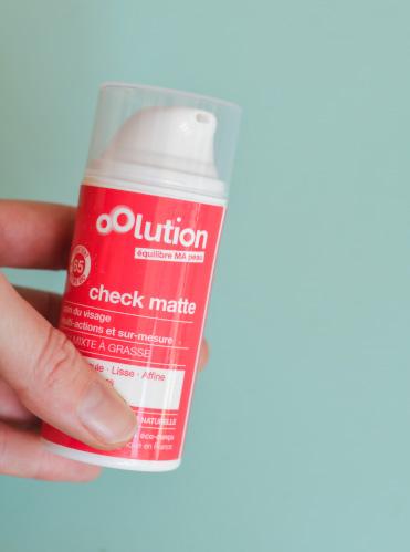 La crème Check Matte d'Oolution, un coup de coeur éthique en beauté naturelle made in France