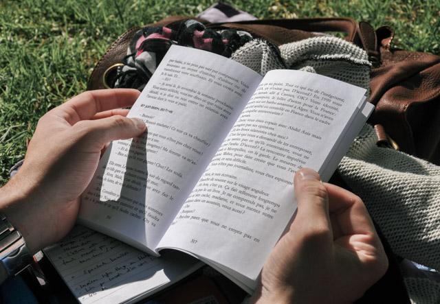 Lire au parc: petit bonheur de la belle saison