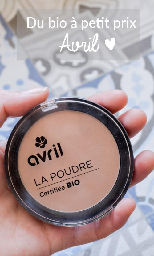 Test & Avis Avril sur la marque française de maquillage bio Avril sur le blog de beauté naturelle Birds & Bicycles