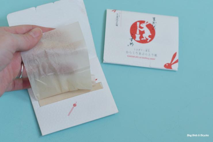 Papiers matifiants ramenés du Japon