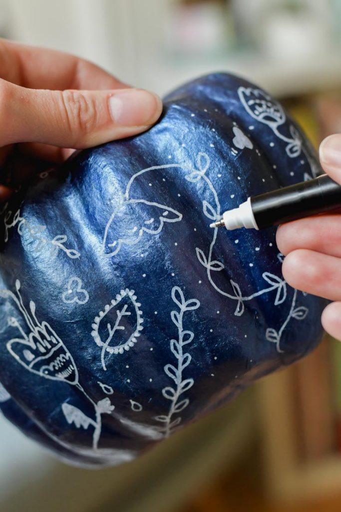 Doodle Peindre des courges en couleur