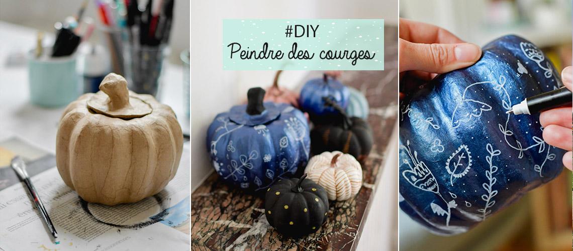 DIY Peindre des courges en automne