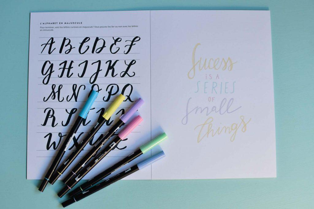 Kit de lettering pour s'entraîner à la calligraphie