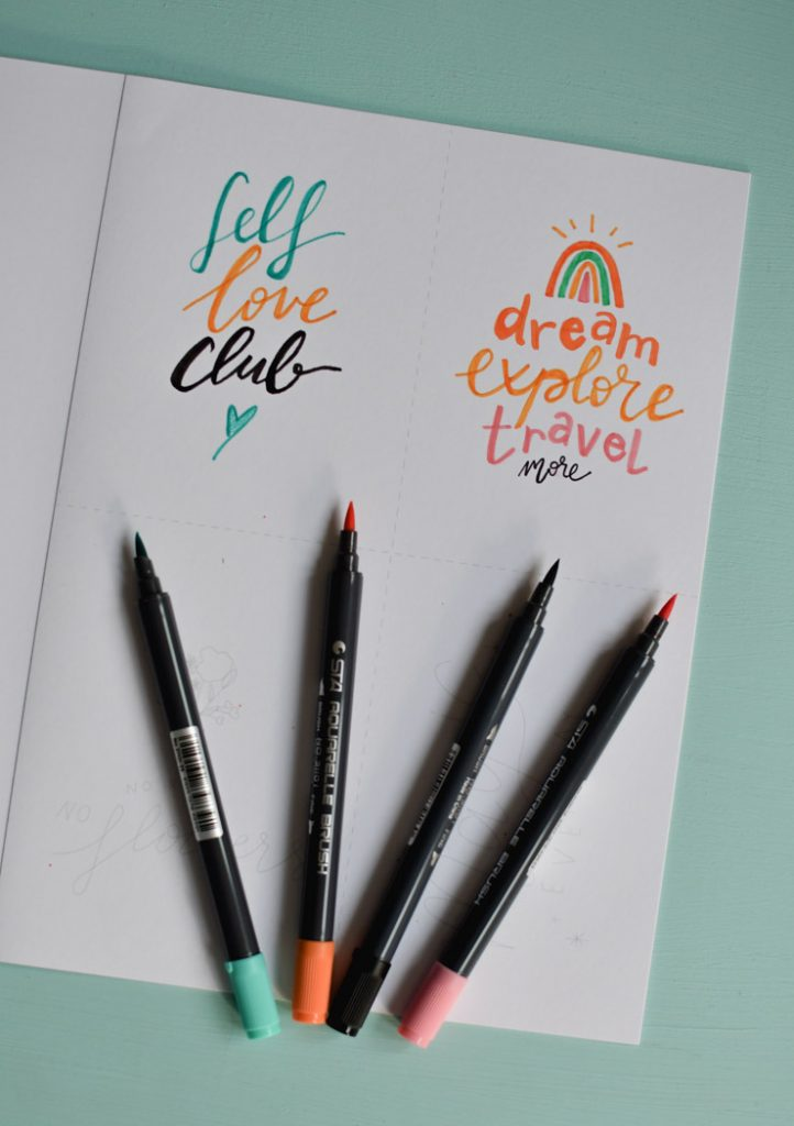 Calligraphie moderne: kit d'exercices