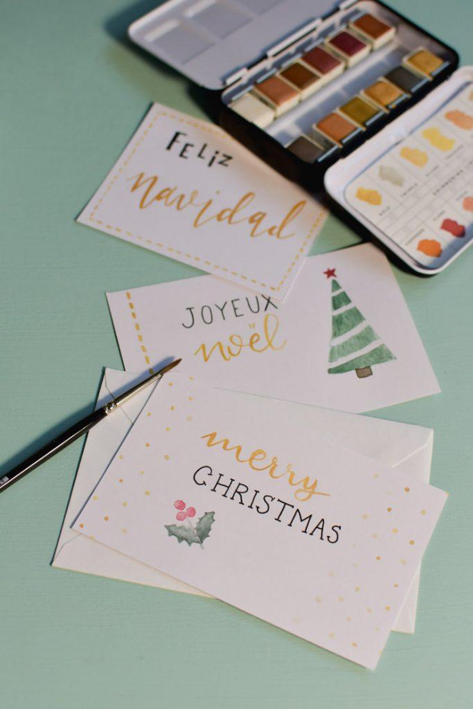 Cartes de Noël à faire soi-même
