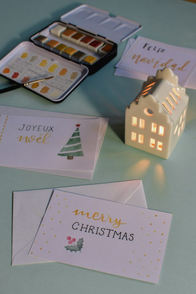Mes cartes de Noël homemade
