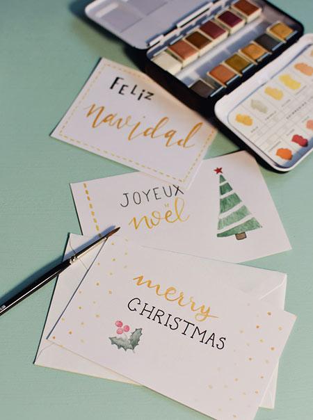 Mes cartes de Noël homemade