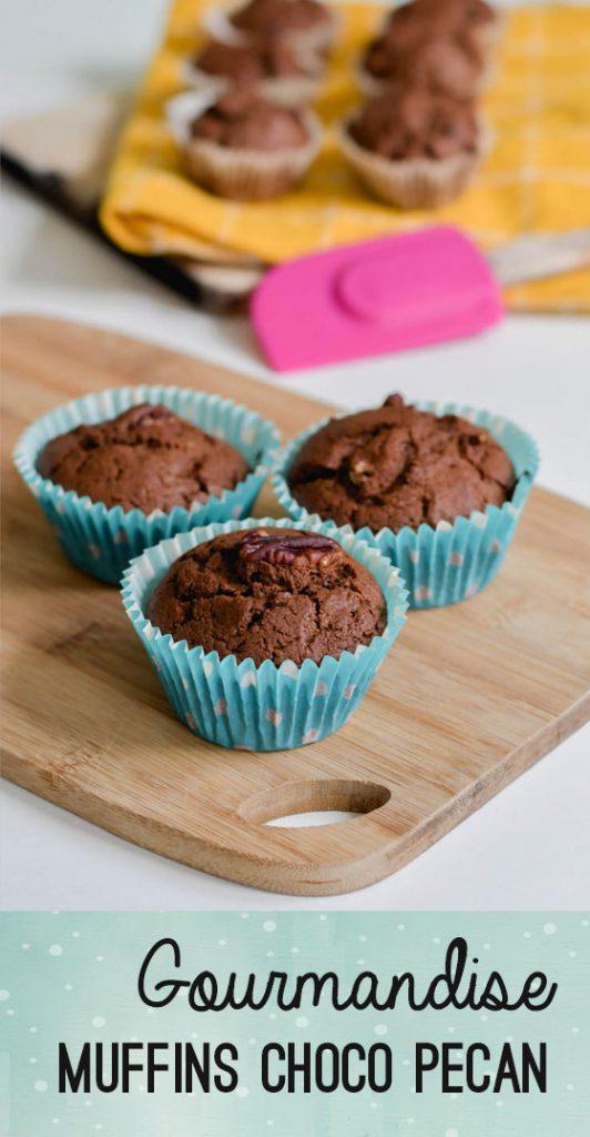 Recette de muffins au chocolat et noix de pécan très gourmands