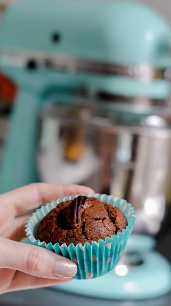 Recette de muffin au chocolat et noix de pécan - pas trop sucré et à la farine d'épeautre