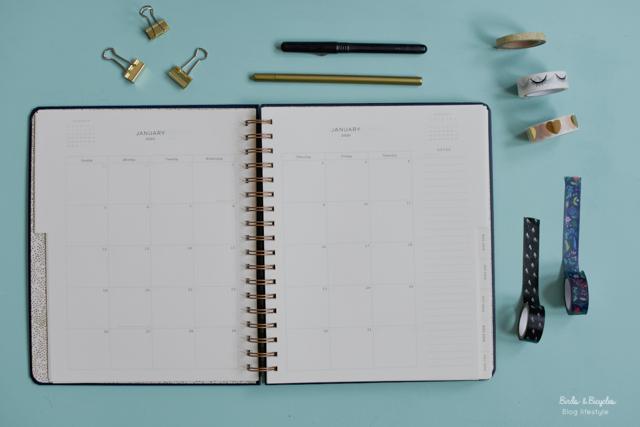 Photos pages intérieures agendas Rigle Paper Co