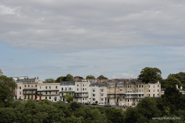 Vue depuis le Clifton Bridge de Bristol