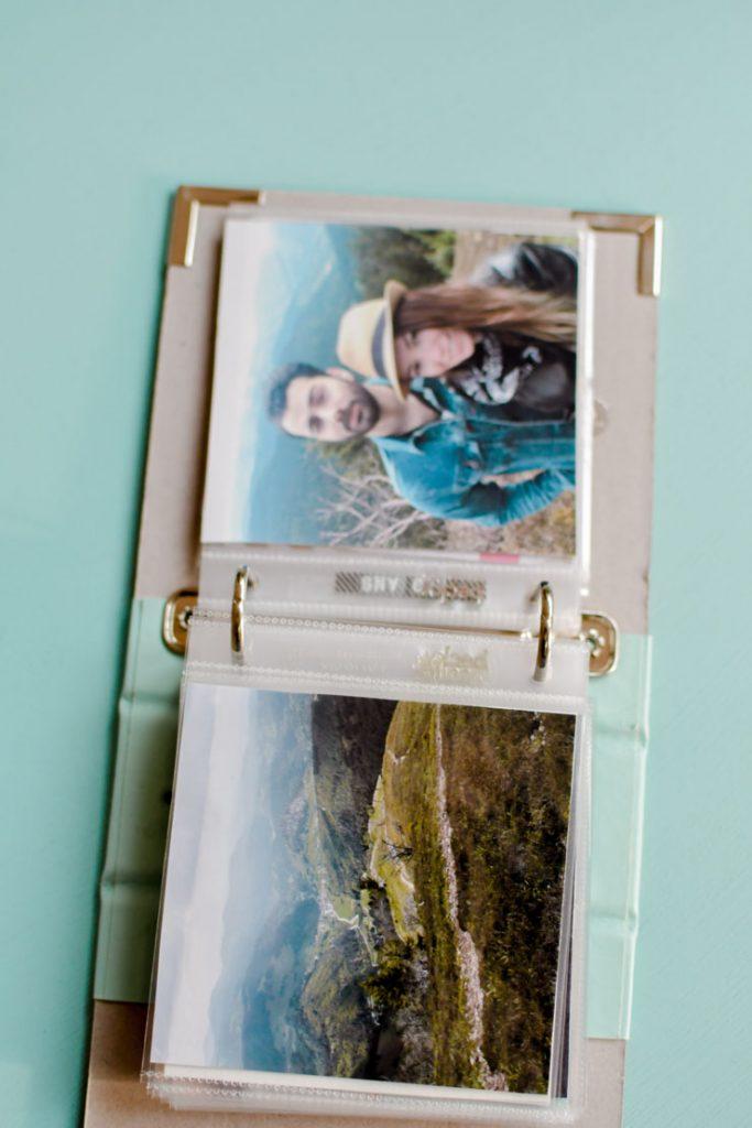 Scrapbook de souvenirs de voyage