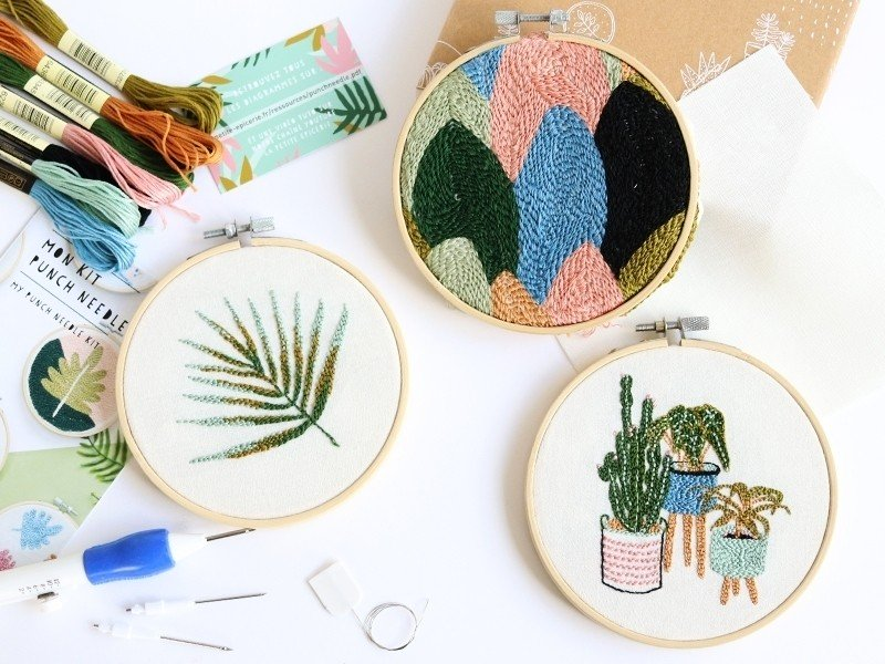 Kit créatif Punch Needle