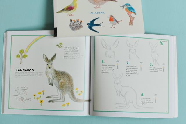 Un livre pour apprendre à dessiner des animaux aux crayons de couleurs, pas à pas