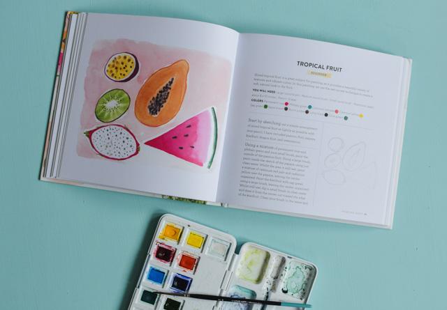 Joli livre d'Emma Block pour apprendre l'aquarelle