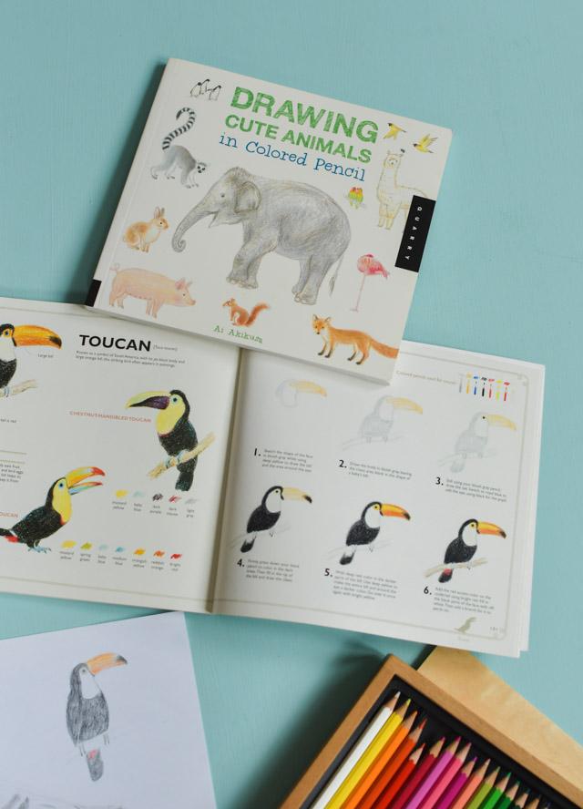 Apprendre dessiner aux crayons de couleurs: les animaux, avec une illustratrice japonaise